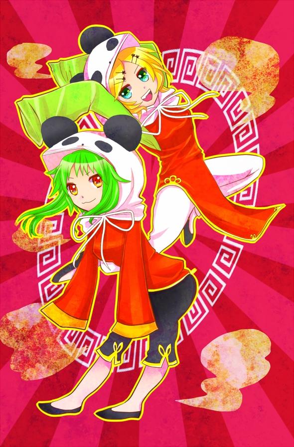 Tags: Anime, Pixiv Id 8186483, VOCALOID, GUMI, Kagamine Rin, Pandamimi, 1-2 Fanclub