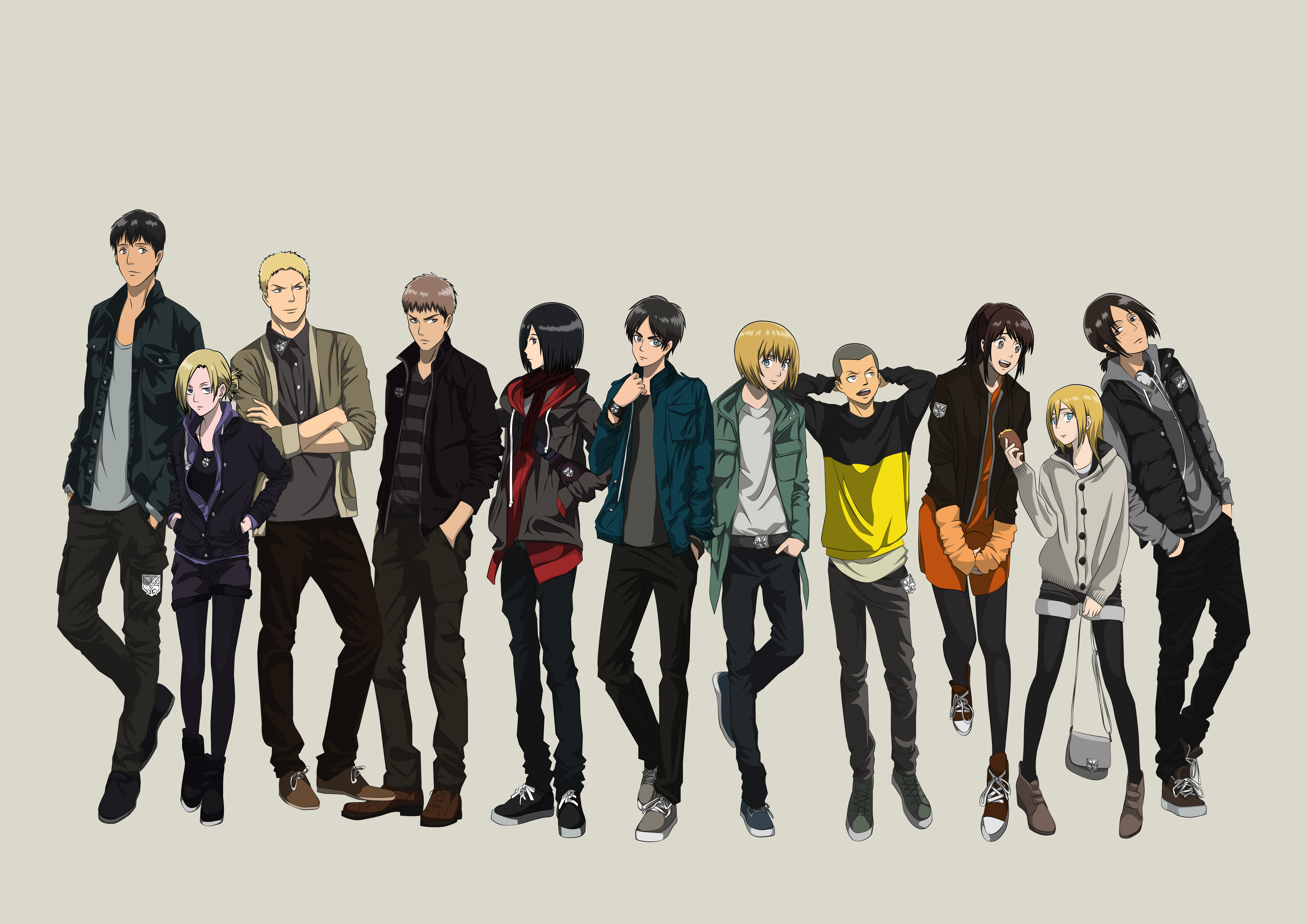 Anime Characters 175 Cm : Th trainees squad attack on titan image