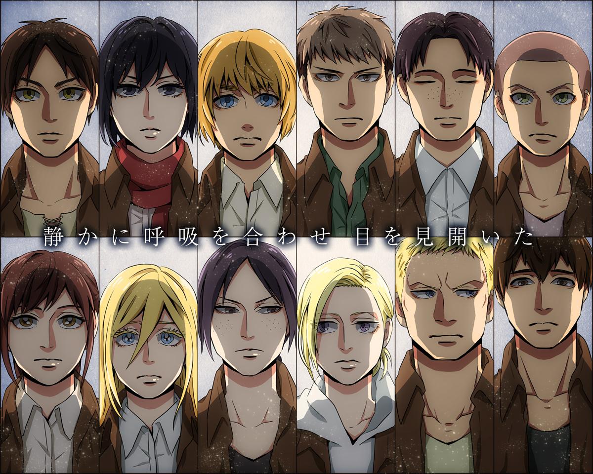 104th Trainees Squad Attack On Titan Wallpaper 1666497 Zerochan Anime Image Board