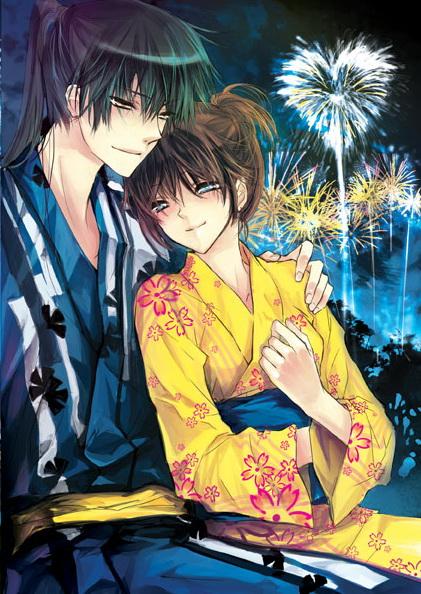 Tags: Anime, 10721 (artist), Gintama, Hijikata Toushirou, Okita Mitsuba, deviantART, Mobile Wallpaper, Pixiv, Original, HijiMitsu