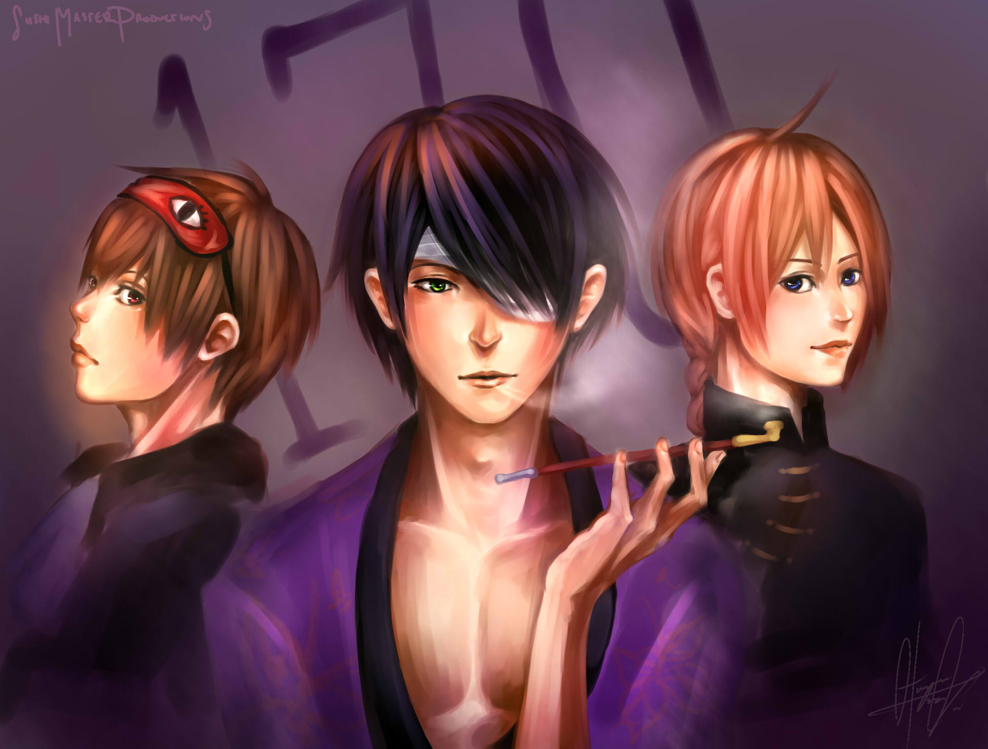 Anime Characters 170 Cm : Cm trio gintama zerochan anime image board