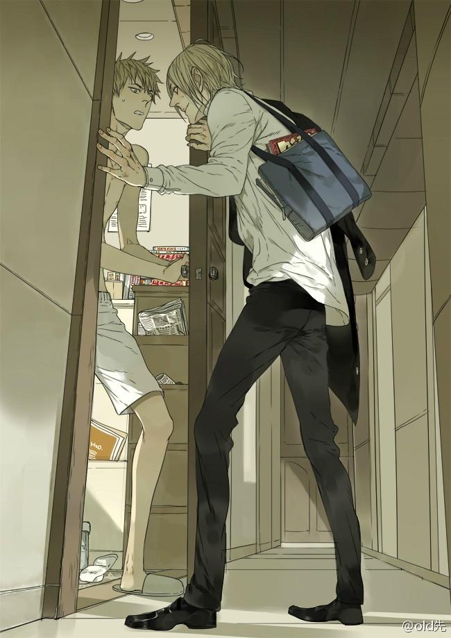 Tags: Anime, Oldxian, 19 Days, Jian Yi, Zhan Zheng Xi, Briefs, Hallway, Plunger, Mobile Wallpaper