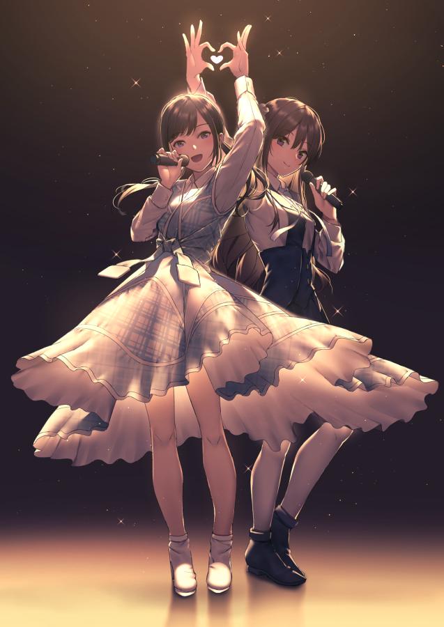 Tags: Anime, Kawachite 22 7, 22/7, Tachikawa Ayaka, Satou Reika, Twitter, Fanart