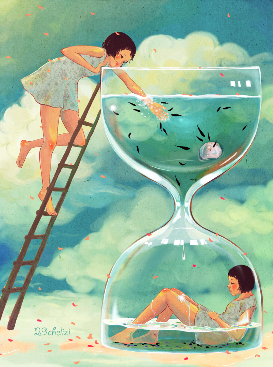 Hourglass Clock Zerochan Anime Image Board