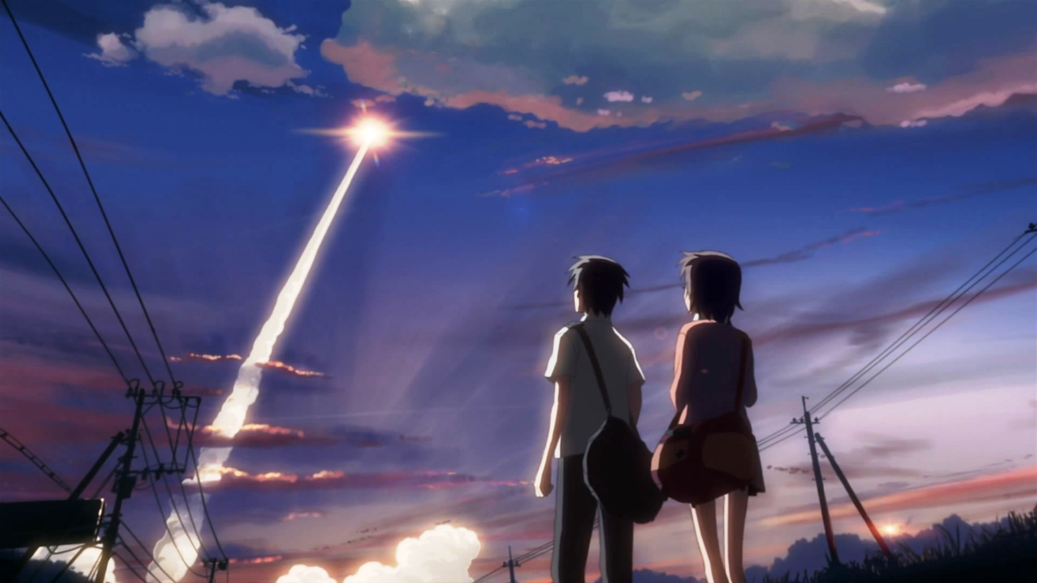 Tags anime makoto shinkai 5 centimeters per second météorites hd wallpaper