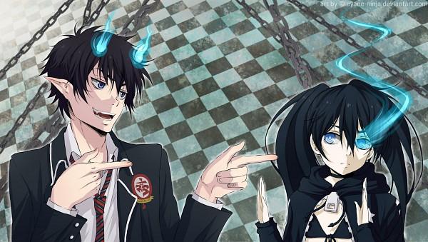 Tags: Anime, Black★Rock Shooter, Black★Rock Shooter (Character), Kuroi Mato, Ao No Exorcist