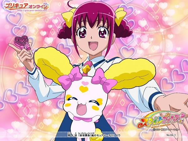 Tags: Anime, Official Art, Smile Precure!, Candy (Smile Precure), Hoshizora Miyuki