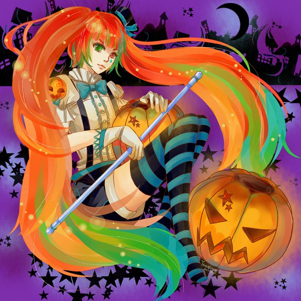 Tags: Anime, Hatsune Miku, Vocaloid, Mrs. Pumpkin No Kokkei Na Yume