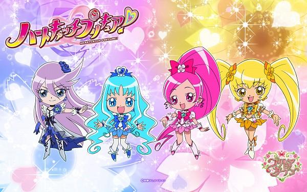 Tags: Anime, Wallpaper, Cure Marine, Cure Blossom, Kurumi Erika
