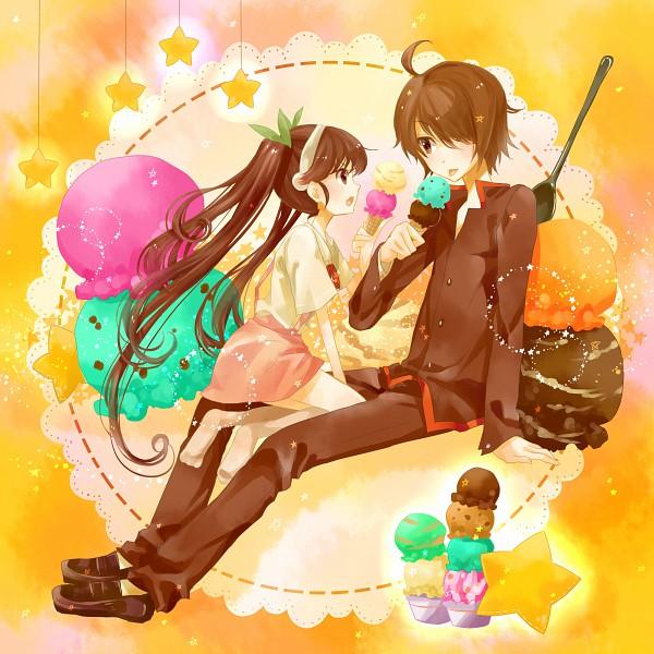 Tags: Anime, Bakemonogatari, Araragi Koyomi, Hachikuji Mayoi, Tamaru