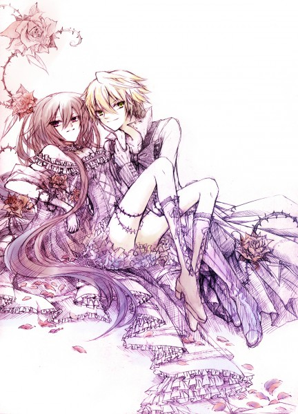 Anime Name:Umineko no Naku Koro ni. Anime Couple: Kanon x Jessica