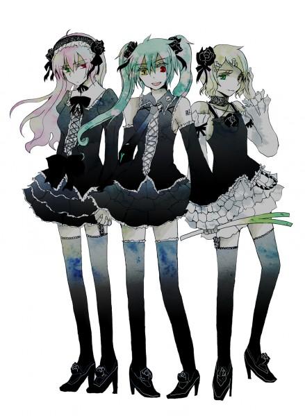 Tags: Anime, Hatsune Miku, Vocaloid, Kagamine Rin, Megurine Luka
