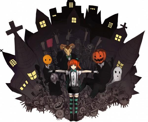 Tags: Anime, Hatsune Miku, Vocaloid, Mrs. Pumpkin No Kokkei Na Yume, Kasa