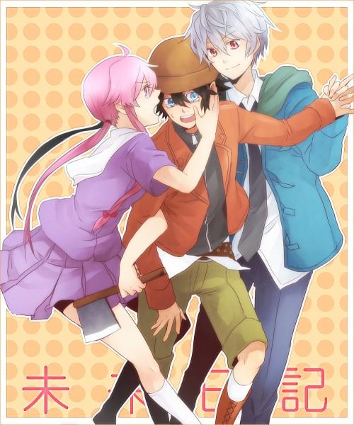 Tags: Anime, Fanart, Mirai Nikki, Pixiv, Gasai Yuno