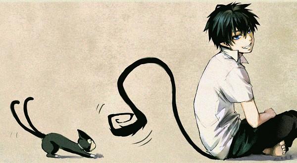 Tags: Anime, Ao No Exorcist, Okumura Rin, Kuro (Ao No Exorcist)