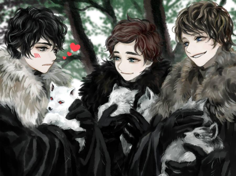 Арт девушка волк 8