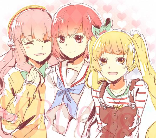 Tags: Anime, LuluSeason, AKB0048, Ichijou Yuuka, Motomiya Nagisa, Aida Orine, Heart Background