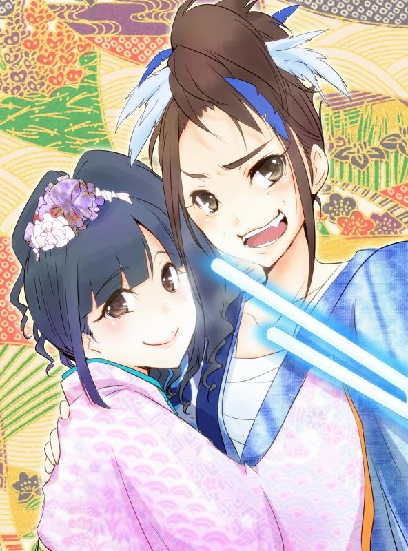 Tags: Anime, Pixiv Id 1616917, Matsui Rena (Character), Oshima Yuko, Nihonga, Glowing Weapons, Fanart From Pixiv, Pixiv, Fanart, SKE48, AKB48