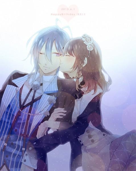 Tags: Anime, Kiss On The Cheek, AMNESIA, Ikki (AMNESIA), Heroine
