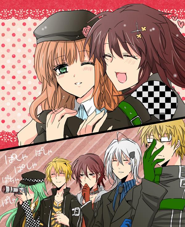 Tags: Anime, Pixiv Id 2425529, AMNESIA, Sawa (AMNESIA), Kent (AMNESIA), Ukyo (AMNESIA), Ikki (AMNESIA), Shin (AMNESIA), Heroine (AMNESIA), Toma (AMNESIA), Audience, PNG Conversion, Gaijin 4koma