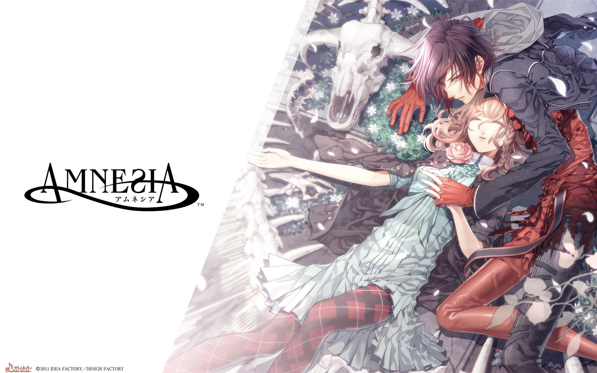 Tags: Wallpaper, IDEA FACTORY, Hanamura Mai, Official Art, AMNESIA, Shin (AMNESIA), Heroine (AMNESIA)