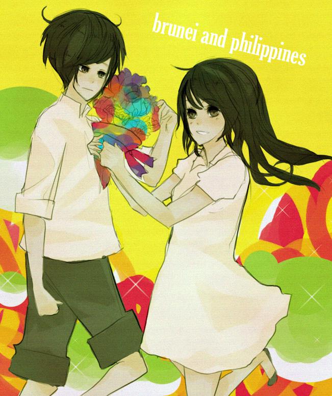 Tags: Anime, Axis Powers: Hetalia, Brunei, Philippines, Fanart, ASEAN, Asian Countries