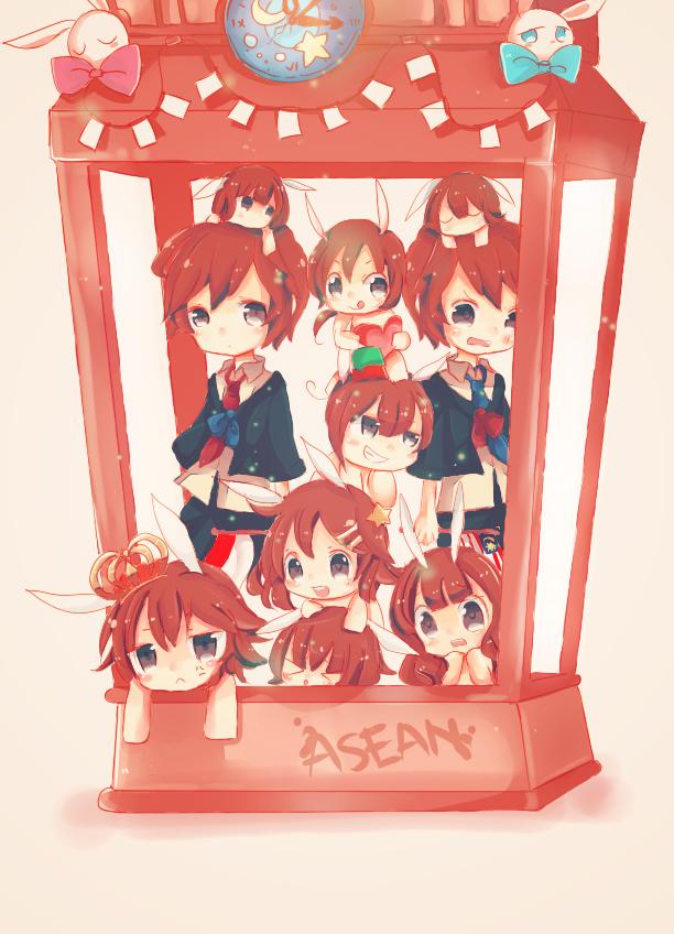 Tags: Anime, Fokkeo, Axis Powers: Hetalia, Vietnam, Laos, Brunei, Philippines, Singapore, Thailand, Fan Character, Malaysia, Myanmar, Indonesia