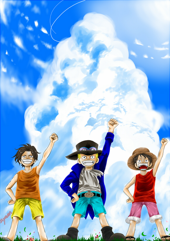 Tags: Anime, ONE PIECE, Portgas D. Ace, Monkey D. Luffy, Sabo, ASL, Straw Hat Pirates