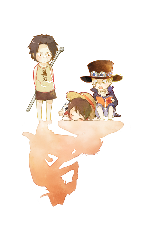 Tags: Anime, ONE PIECE, Monkey D. Luffy, Sabo, Portgas D. Ace, Mobile Wallpaper, Artist Request, ASL