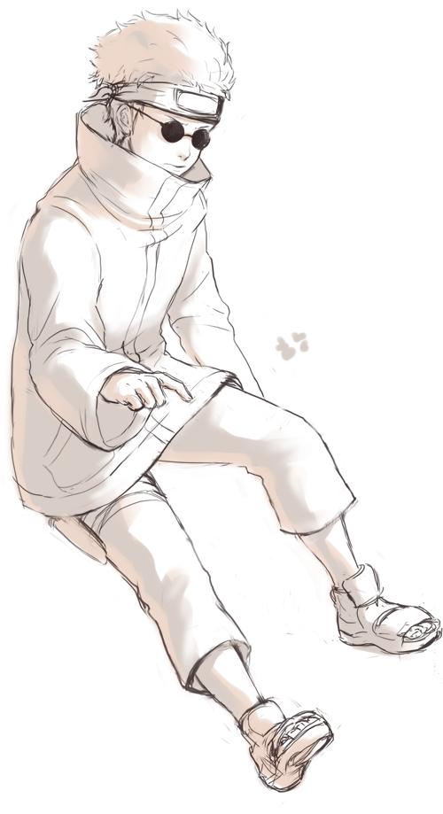 Tags: Anime, Pixiv Id 1214399, NARUTO, Aburame Shino, Saiyan, Sketch