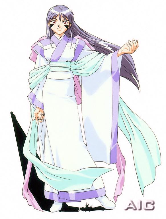 Tags: Anime, Kajishima Masaki, Geneon Pioneer, Anime International Company, Tenchi Muyo! Ryo-Ohki, Achika Masaki, Scan, Official Art