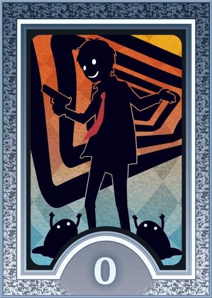Tags: Anime, Shin Megami Tensei: PERSONA 4, Adachi Tohru, Tarot Cards, Aiming To Side, The Fool, Mobile Wallpaper