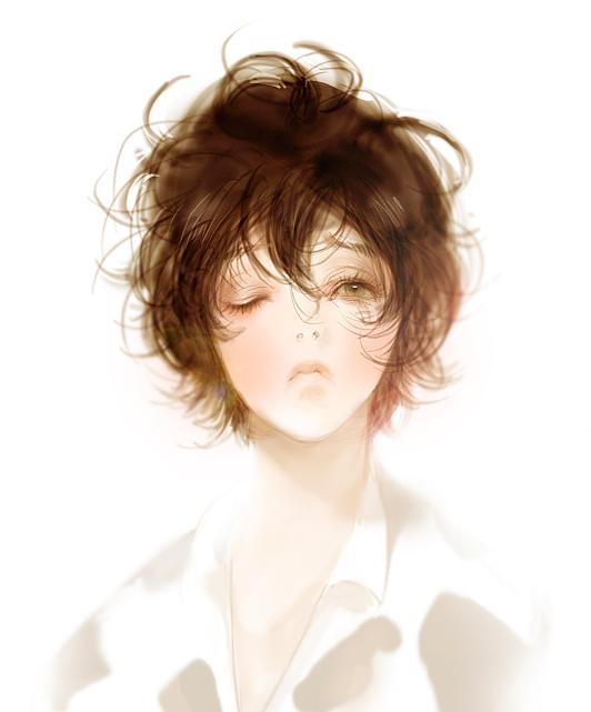 Tags: Anime, Laphet, Katekyo Hitman REBORN!, Lambo, Adult Lambo, Cow Print, Pixiv, Fanart