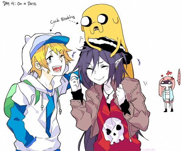 Tags: Anime, Curryuku, Adventure Time, Princess Bonnibel Bubblegum, Jake the Dog, Finn the Human, Marceline Abadeer