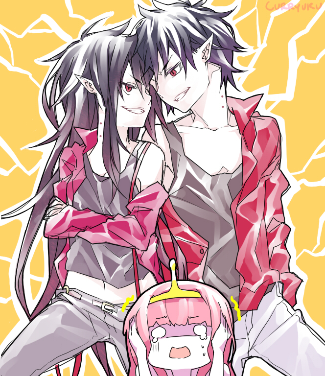 Tags: Anime, Curryuku, Adventure Time, Marshall Lee the Vampire King, Marceline Abadeer, Princess Bonnibel Bubblegum, O O, Tumblr, deviantART