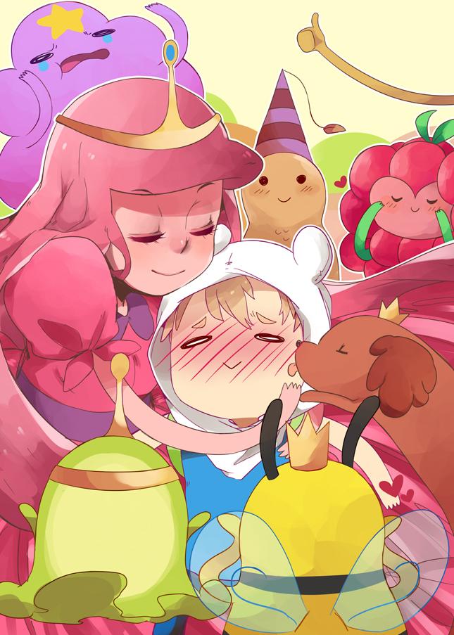 Tags: Anime, Yova, Adventure Time, Princess Bonnibel Bubblegum, Slime Princess, Jake the Dog, Hot Dog Princess, Finn the Human, Peanut Princess, Lumpy Space Princess, Bee Princess, Wildberry Princess, Harem