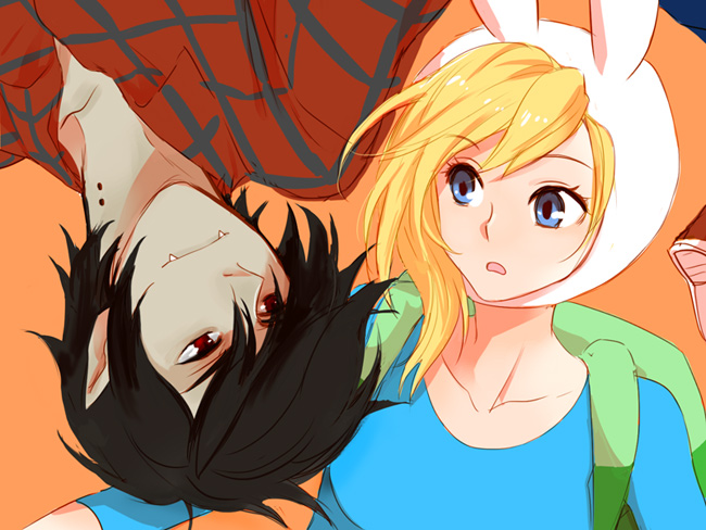 Tags: Anime, Zoo-chan, Adventure Time, Marshall Lee the Vampire King, Fionna the Human Girl, deviantART, Tumblr, Fanart, Fanart From DeviantART, Fanart From Tumblr
