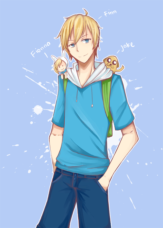 Tags: Anime, Yonhae, Adventure Time, Fionna the Human Girl, Jake the Dog, Finn the Human, PNG Conversion, deviantART, Fanart From DeviantART, Fanart, Mobile Wallpaper