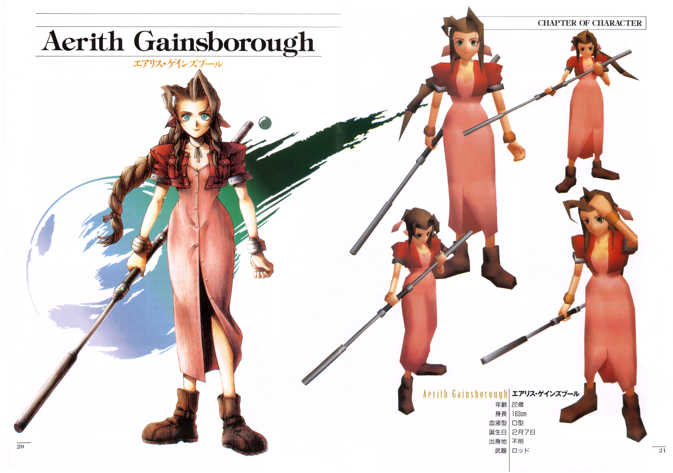 Final Fantasy 7 Anime Characters : Aerith gainsborough final fantasy vii image