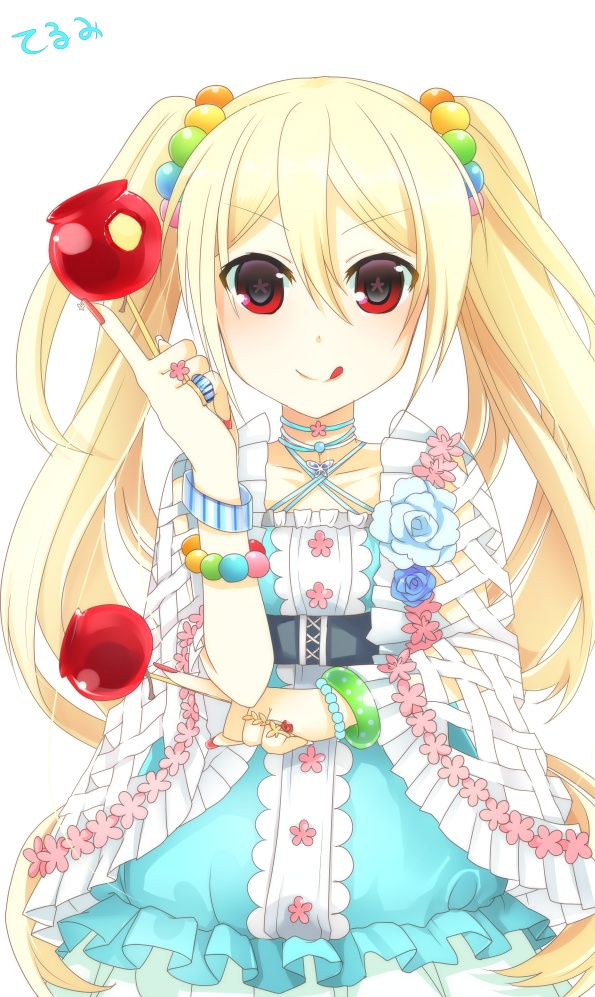 Tags: Anime, Pixiv Id 457137, Inazuma Eleven, Afuro Terumi, Candy Apple, Mobile Wallpaper