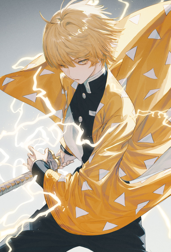 Tags: Anime, ₩ANKE, Kimetsu no Yaiba, Agatsuma Zenitsu, Fanart From Pixiv, Pixiv, Fanart