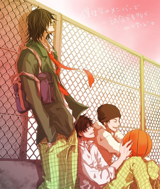 Tags: Anime, Karasu (Pixiv1592003), Ahiru no Sora, Shigeyoshi Kaname, Natsume Kenji, Kurumatani Sora, Character Request, Pixiv, Fanart