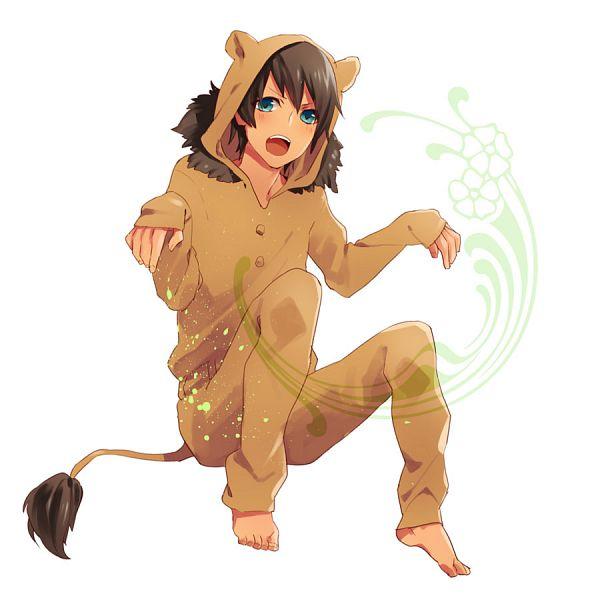 Tags: Anime, Pixiv Id 1809396, Uta no☆prince-sama♪, Aijima Cecil, Lion Tail, Shishimimi, Hood Up