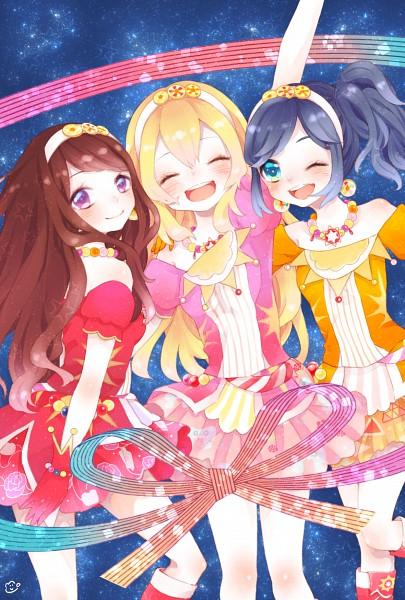 Tags: Anime, ^ ^, Frilly Dress, Momico, Aikatsu!, Hoshimiya Ichigo, Kiriya Aoi