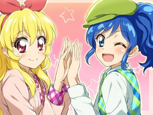 Tags: Anime, Punchiki, Red Bow, Aikatsu!, Hoshimiya Ichigo, Kiriya Aoi