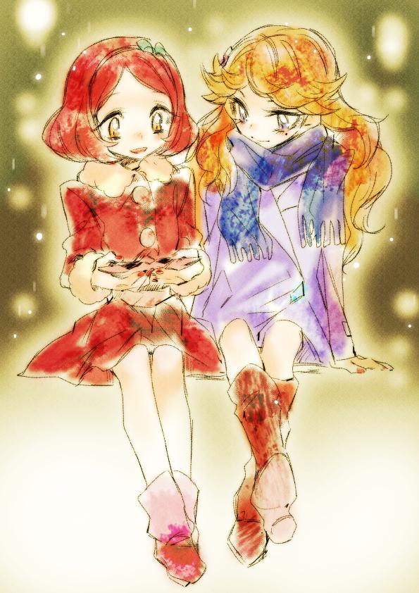 Tags: Anime, Tima, Aikatsu!, Mitsuishi Orihime, Hoshimiya Ringo, Side by Side, Fanart From Pixiv, Pixiv, Fanart