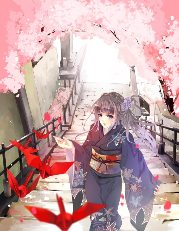 Tags: Anime, Aiki-ame, Origami, deviantART, Original