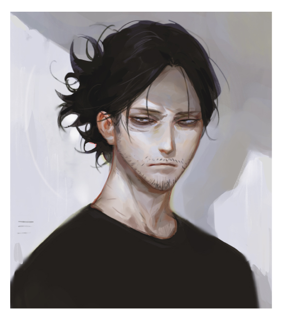 Tags: Anime, Alle Page, Boku no Hero Academia, Aizawa Shouta, Stubble, PNG Conversion, Fanart