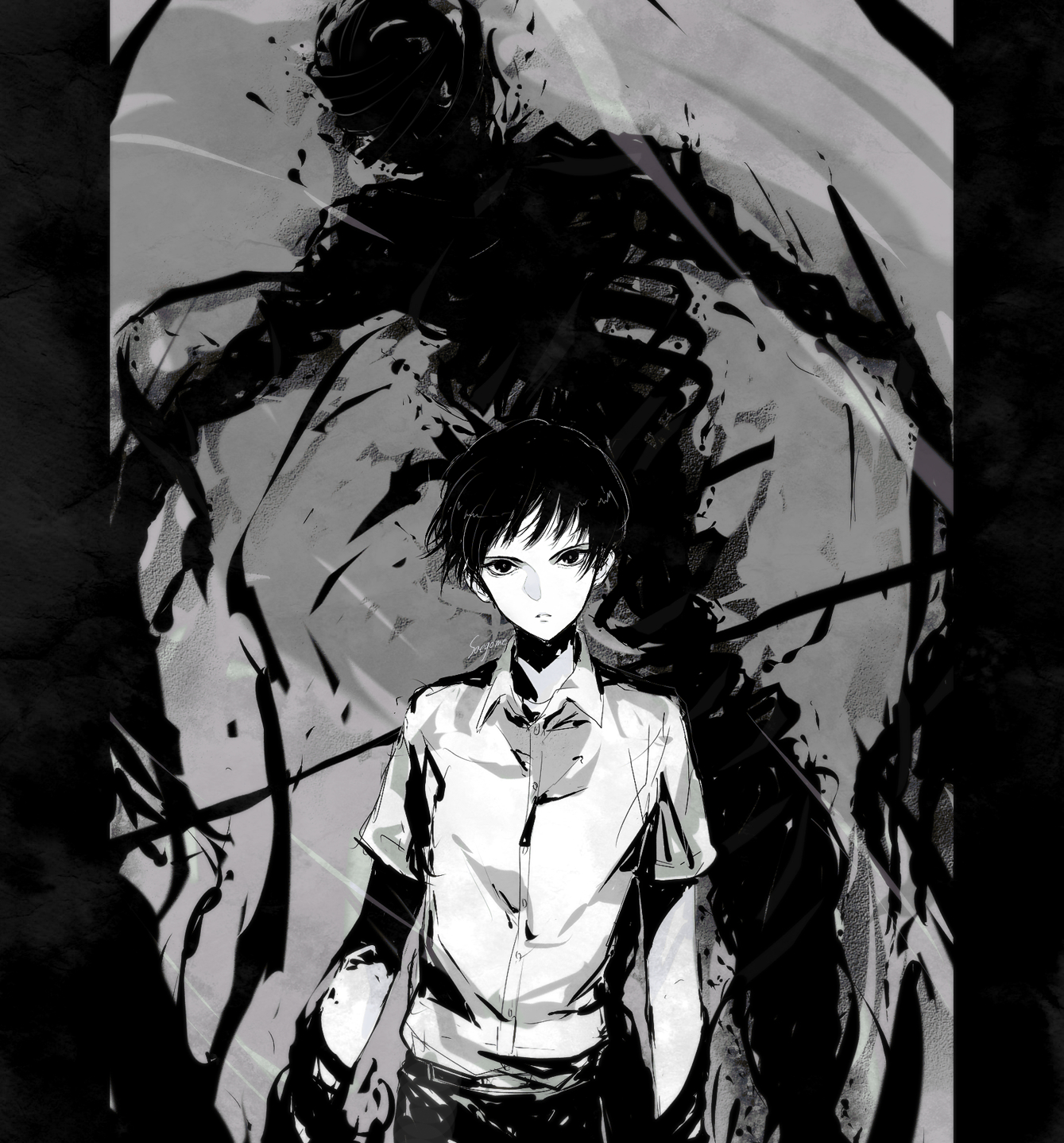 Ajin fanart zerochan anime image board - Fanart anime wallpaper ...