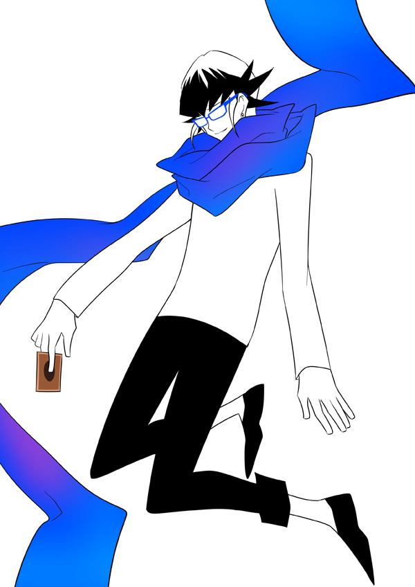 Tags: Anime, Pixiv Id 9315578, Yu-Gi-Oh!, Yu-Gi-Oh! ARC-V, Akaba Reiji, Floating Scarf, Black Footwear